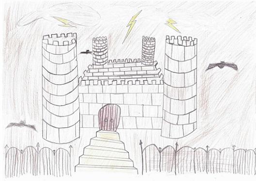 Le château du vampire selon Gabriel.
