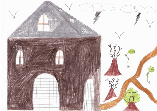 Le château du vampire selon Diana.
