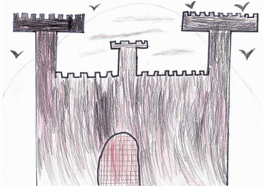 Le château du vampire selon Myriam.