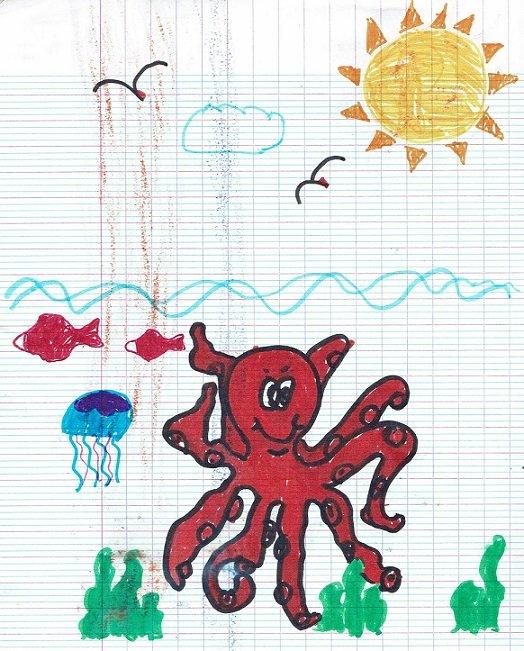 Un dessin de Marina.