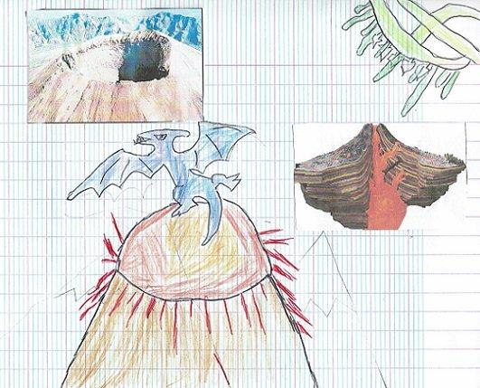 Harry a bravé un volcan pour nous ramener l'image de ce ptérodactyle !