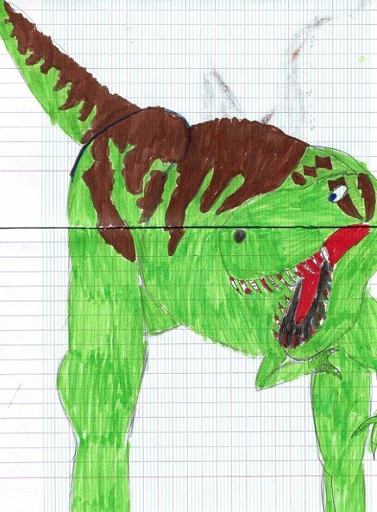 Henessy n'a pas eu peur de ce T-Rex !