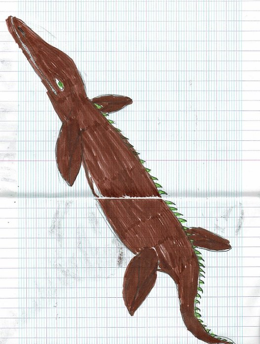 Henessy a nagé près de ce magnifique mosasaure !