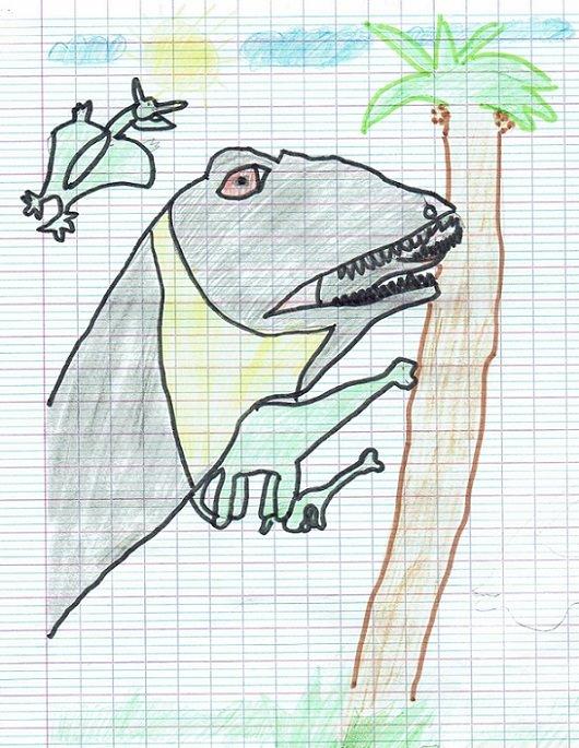 Péni a observé longuement ce dinosaure...